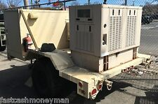 MILITARY YANMAR DIESEL QUIET GENERATOR COMMUNICATIONS AIR CONDITIONED TRAILER