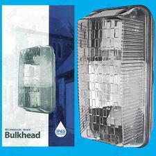 Outdoor Rectangular Black IP65 Bulkhead, Security Wall Light, Vandal Resistant