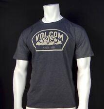 New Volcom Surfing Team Volcano Dark Gray Classic S/S Sport Mens T Shirt RVLC-53