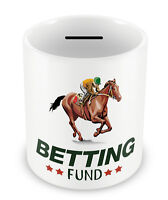 BETTING FUND Money Box - Horse Racing Equestrian Birthday Gift Christmas 70