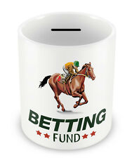 BETTING FUND Money Box - Horse Racing Equestrian Birthday Gift Christmas #70