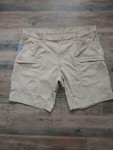 Duluth Trading Company Alaskan Hardgear Mens Tan Shorts 44 Waist GUC
