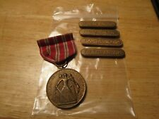 Us Navy Second Nicaraguan Campaign Medal M.No. 7070 1926-1930 Plus Bars 2nd-5th