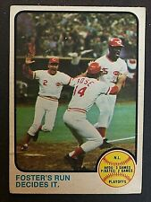 1973 Topps NL Playoffs George Foster Cincinnati Reds #202