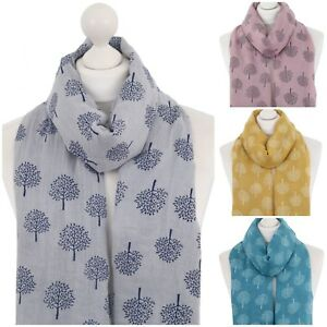 Mulberry Tree Scarf Soft Ladies Tree of Life Autumn Trees Wrap Winter Scarves UK