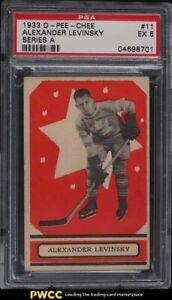 1933 O-Pee-Chee Hockey Series A Alexander Levinsky #11 PSA 5 EX