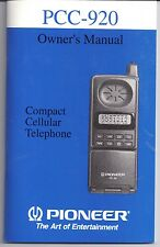PIONEER PCC-920 Compact Cellular Telephone OWNER'S MANUAL