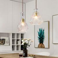 E27 LED Deckenlampe Hängeleuchte Weinflasche Glas Kronleuchter Vintage Lampe DE