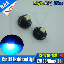 2 X T3 Neo Wedge 1 SMD 1210 LED Car Bulb HVAC Climate Control Lights Blue DC12V