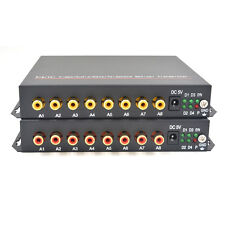 8CH Audio Fiber Optic Media Converters for Intercom System /Broadcast, S/M 20Km