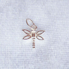 Sterling Silver Dragonfly Charm 10mm 925
