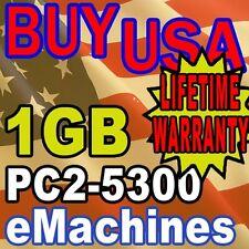 1GB PC2-5300 eMachines W3644 W5233 W5243 Memory Ram