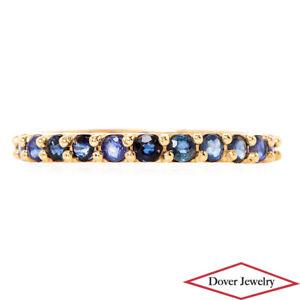 Estate 1.44ct Sapphire 14K Gold Eternity Ring NR