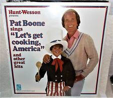 1987 PAT BOONE SINGS LETS GET COOKING AMERICA & OTHER HITS HUNT-WESSON LP SEALED