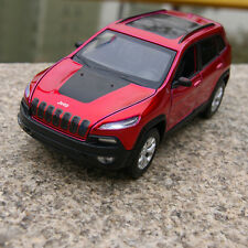 1:32 Jeep Cherokee Diecast Vehicle Model Metal Pull Back SUV Car Kids Toy Decor