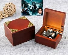 Wooden Vintage Square Hand Crank Music Box :  Harry Potter Theme Soundtrack