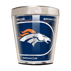 Denver Broncos 2 oz Acrylic/Stainless Steel Shot Glass w/ Metallic Graphics
