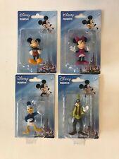 "Disney Mickey Mouse Mini Donald Goofy 2"" Figurine Cake Topper Birthday Lot Of 4"