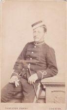 ANTIQUE CDV PHOTO - SOLDIER IN UNIFORM. JOHN PARKIMON. 1882. CHESTER STUDIO
