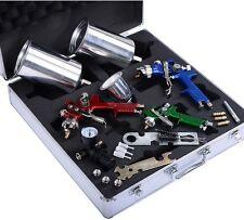 3 HVLP Air Spray Gun Kit Auto Paint Car Primer Detail Basecoat Clearcoat