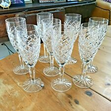 "Waterford Crystal Cut Glass COMERAGH 8 3/8"" Fluted Champagne Glasses"