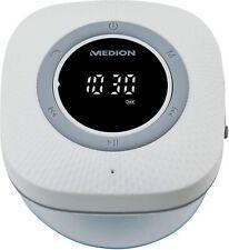 MEDION P66096 Duschradio mit Bluetooth (Saugnapf, LED-Display Wasserdicht) weiß