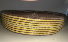 Vintage Lawn Chair Webbing Replacement Lot Diy Web Yellow & Brown 2lbs 8 ounces