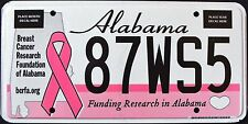 """ALABAMA """" BREAST CANCER RESEARCH - HEART OF DIXIE """" AL Specialty License Plate"""
