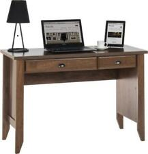 Oiled Oak Computer Study Desk Writing & Laptop Table | Flip Down Drawer