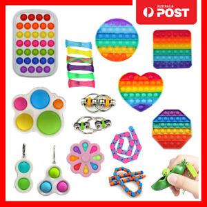 Pop it Fidget Toy Push Simple Dimple Bubble Sensory Wacky Track Stress Relief