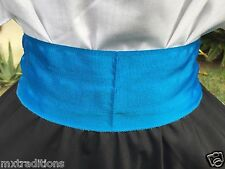 Mexican Turquoise Sash/Belt Size Small Made In Mexico. Faja Chica Hecha En Mex