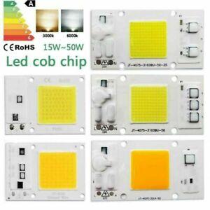 LED Chip 10W 20W 30W 50W Lamp bead smart ic cob bulb smd light spectrum 220-240V