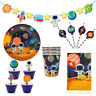 Astronaut Outer Space Kids Theme Party Supplies Balloon Flag Table Cover Plate
