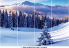 Winter Tree Leaves Photo Wallpaper White Snow Mountain Mural Home Bedroom Deco