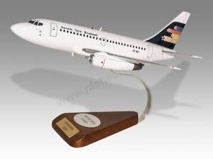 Boeing 737-130 Ansett New Zealand Solid Mahogany Wood Handmade Desktop Model