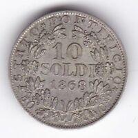 1868 Italian States Papal XXIIR 10 Soldi   Pennies2Pounds
