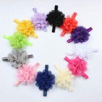 Flower Headbands Infant Lace Headwear Elastic Hairband Ribbon Hair Accessories