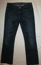 EARNEST SEWN KEATON 115 very stretchy slight boot cut dark wash jeans 27    ***