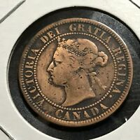 1884 CANADA LARGE CENT BETTER COIN