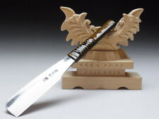 Large Blade! Shave Ready! TAMAHAGANE IWASAKI J*apanese Straight Razor #A-128