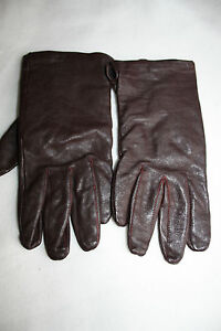 LADIES BROWN ISOTONER  LEATHER GLOVES  SIZE M L USED GOOD CONDITION