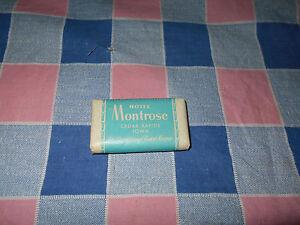 "Travel Souvenir Soap Hotel Montrose Cedar Rapids Fontenelle Omaha  2 1/4"" Wide"