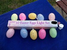 10 EASTER EGGS LIGHT SET NIP