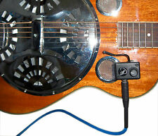 RESONATOR GUITAR PICKUP, with FLEXIBLE GOOSENECK, GUITAR PICKUP, Myers Pickups