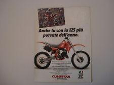 advertising Pubblicità 1985 MOTO CAGIVA WMX 125