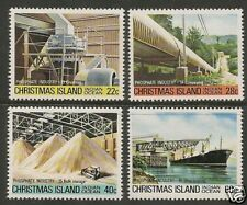 CHRISTMAS IS 1981 PHOSPHATE INDUSTRY Part 4 4v  MNH