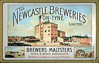 Newcastle Breweries embossed steel sign (hi 3020)