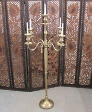 Tulsi Antiqued Candle Holder Candelabra 5 Candle Floor Standing Vintage Hotel