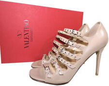 41d60d17765d valentino Garavani Rockstuds Grrommets Buckles Sandal Blush PUMPS Shoes 37  HEELS
