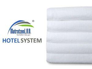 10x Hotel 50x100 Gästetücher Handtücher 100% Baumwolle 400g/m² waschbar bis 90°C